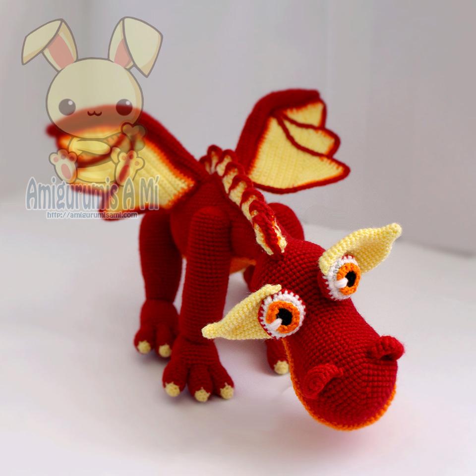 Mike el Dragón Amigurumi de Delicious Crochet |