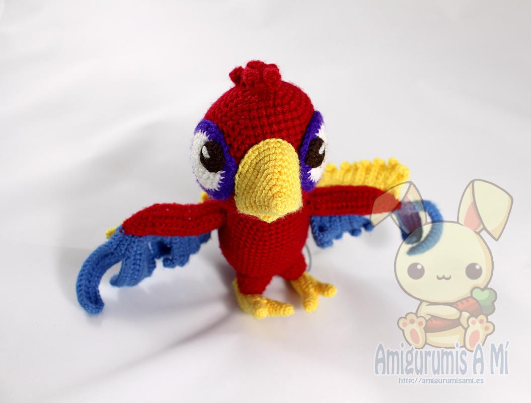 Loro Amigurumi - Chili the parrot, patron de IlDikko
